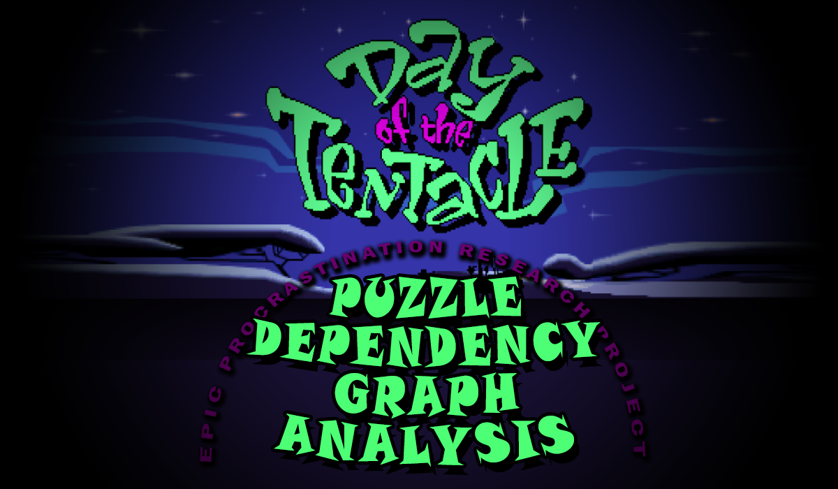Day of the Tentacle Puzzle Dependency Graph Analysis